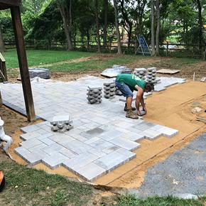 patio installation from carroll landscaping - Patio Installation